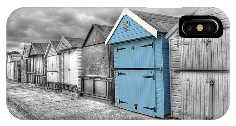 Beach Hut IPhone X Case featuring the photograph Beach Hut In Isolation by Chris Day