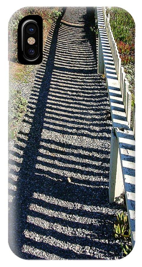 Half Moon Bay IPhone X Case featuring the photograph Beach Path by Carol Groenen