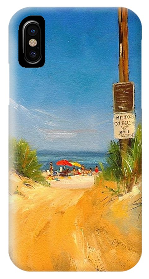 Oil Painting IPhone Case featuring the painting Beach Path by Laura Lee Zanghetti