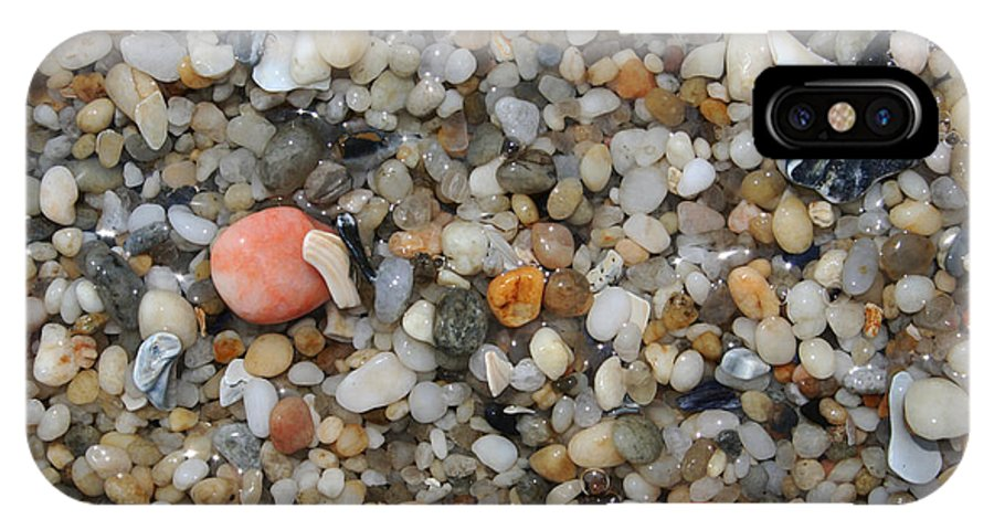 Beach IPhone X Case featuring the photograph Beach Stones by Linda Sannuti