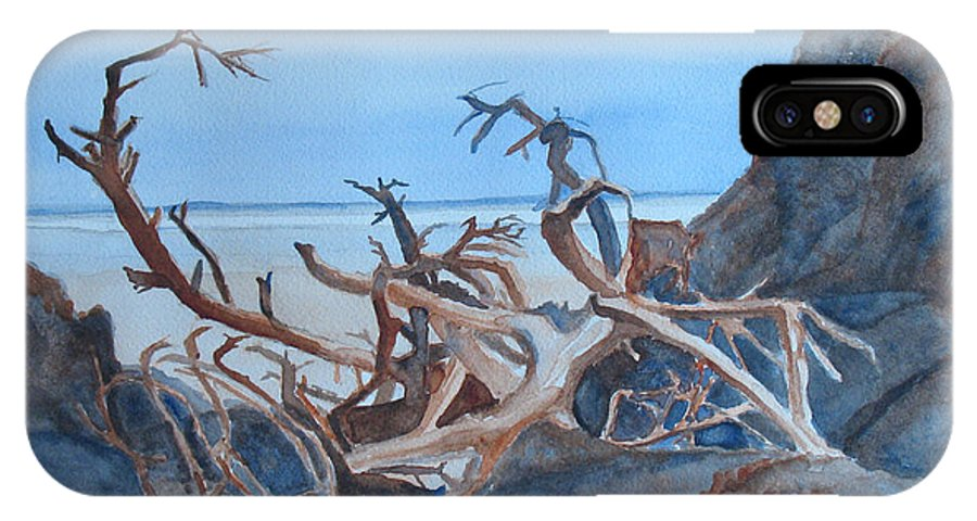 Seascapes IPhone X Case featuring the painting Beach Tangle by Jenny Armitage