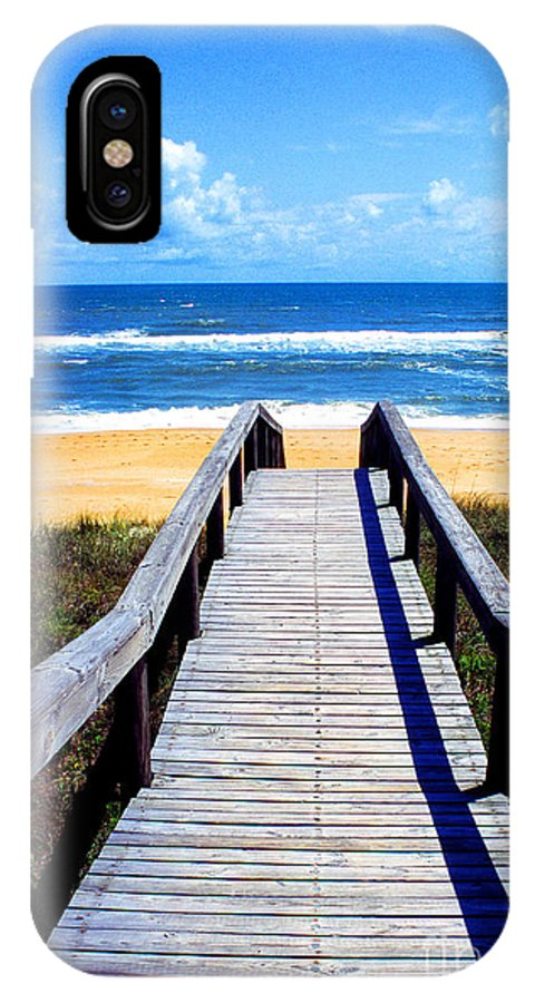 View IPhone X Case featuring the photograph Beach View by Thomas R Fletcher