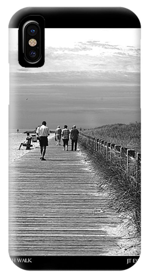 Boardwalk IPhone X Case featuring the photograph Beach Walk by J Todd