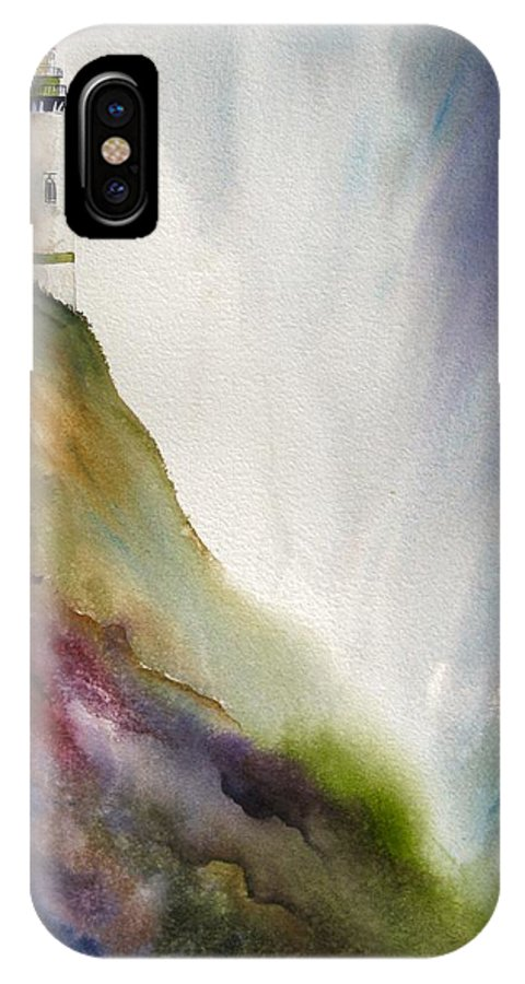 Lighthouse IPhone Case featuring the painting Beacon by Karen Stark