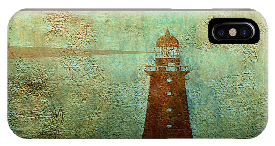 Beacon IPhone X Case featuring the mixed media Beacon by Michael Magnus