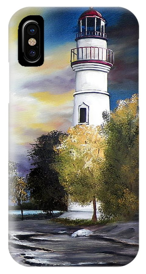 Art IPhone X Case featuring the painting Beacon of Hope by RB McGrath