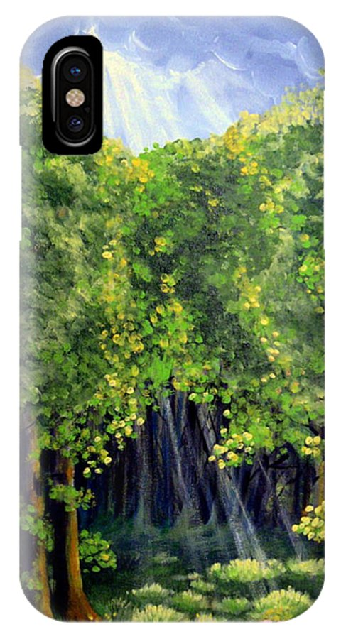 Forest IPhone Case featuring the painting Beaming In by Sharon Marcella Marston