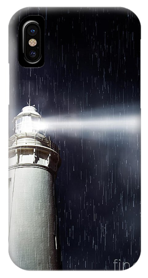 Nautical IPhone X Case featuring the photograph Beaming Lighthouse by Jorgo Photography - Wall Art Gallery