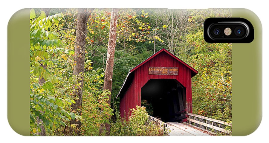 Covered Bridge IPhone X Case featuring the photograph Bean Blossom Bridge II by Margie Wildblood
