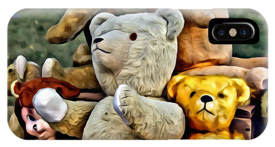 Bears IPhone X Case featuring the painting Bears For Sale by Modern Art