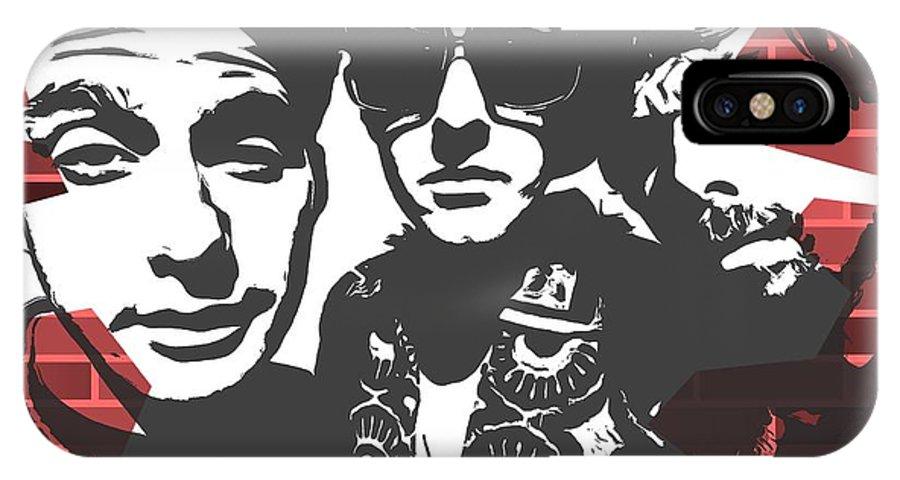 Beastie Boys Graffiti Tribute IPhone X Case featuring the digital art Beastie Boys Graffiti Tribute by Dan Sproul