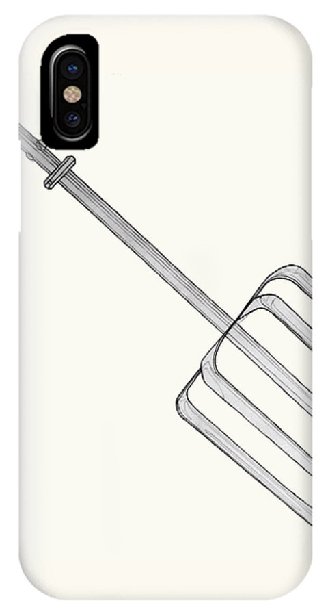 Beater IPhone X Case featuring the drawing Beat It by Jean Haynes