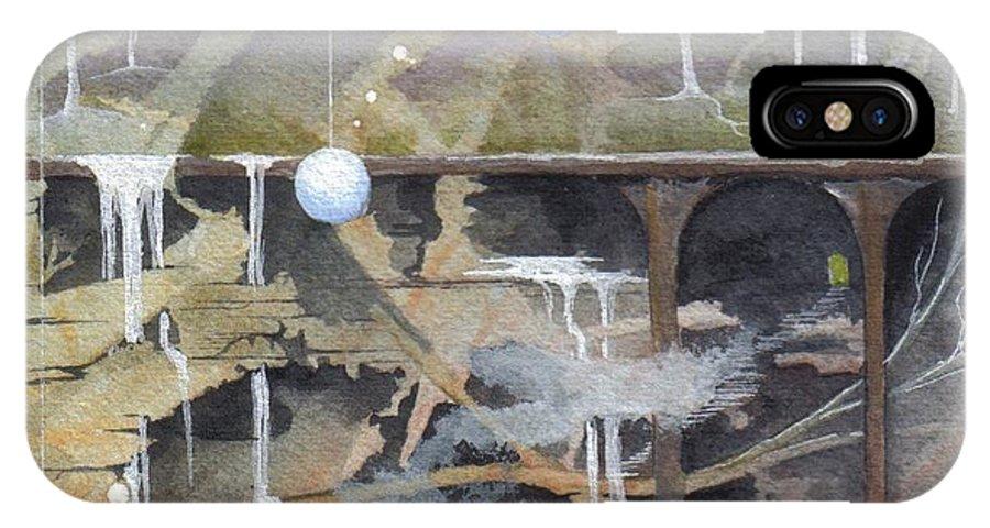 Fantasy Landscape IPhone X Case featuring the painting Beata's Destiny by Jackie Mueller-Jones