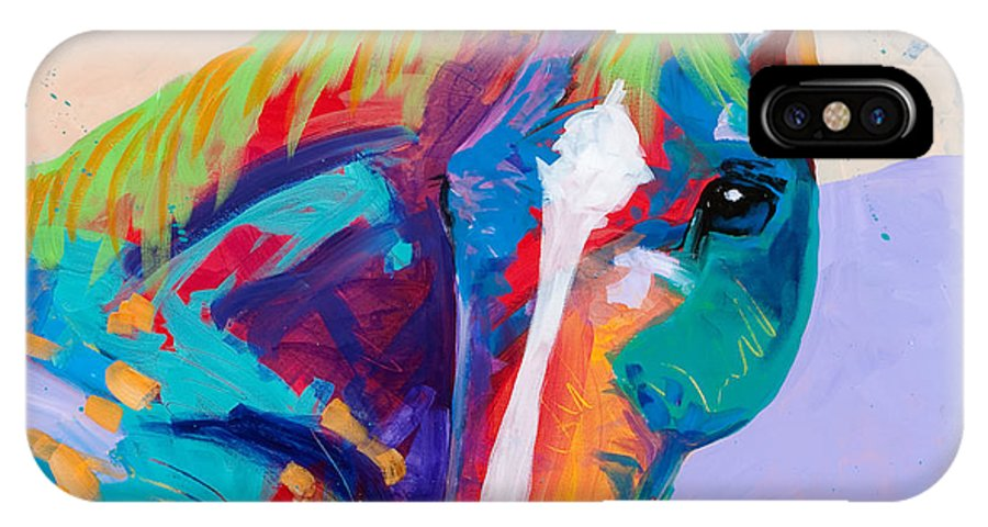 Horse IPhone X / XS Case featuring the painting Beau by Tracy Miller