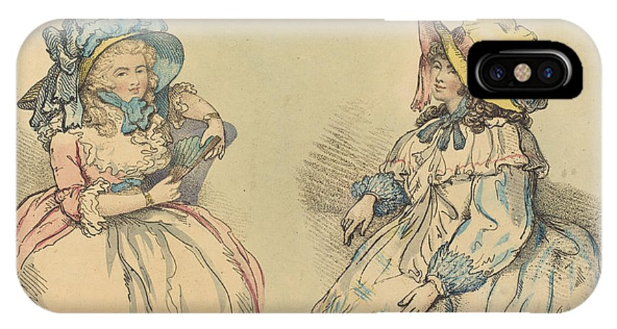 IPhone X Case featuring the drawing Beauties by Thomas Rowlandson