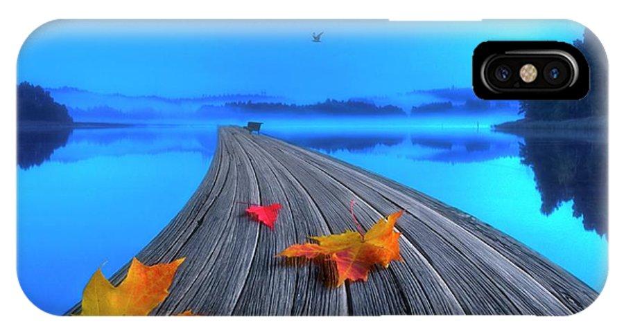 Artist IPhone X Case featuring the photograph Beautiful Autumn Morning by Veikko Suikkanen