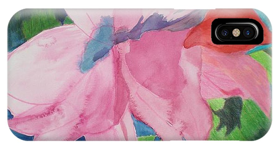 Flower IPhone Case featuring the painting Beautiful Azalea by Hal Newhouser