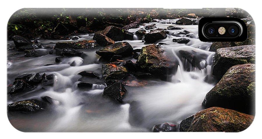 Stream IPhone X Case featuring the photograph Beautiful Creek In Western Ghats Region Of Karnataka State India by Vishwanath Bhat