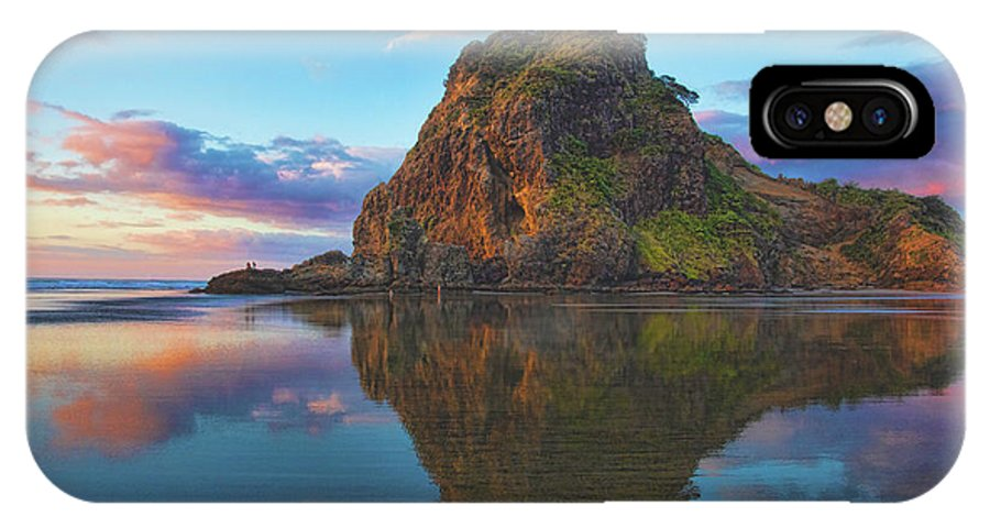 Lion's Rock IPhone X Case featuring the photograph Beautiful Lion by Photopoint Art