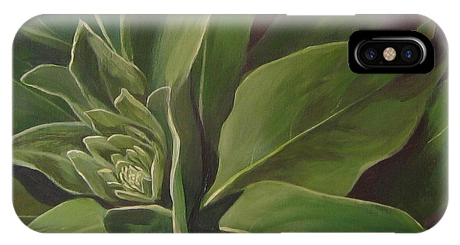 Closeup Of Mullein Plant IPhone X Case featuring the painting Beautiful Stranger by Hunter Jay