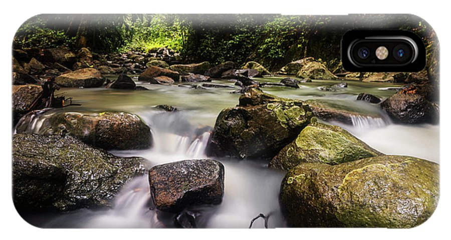 Stream IPhone X Case featuring the photograph Beautiful Stream In Western Ghats Region Of Karnataka India by Vishwanath Bhat