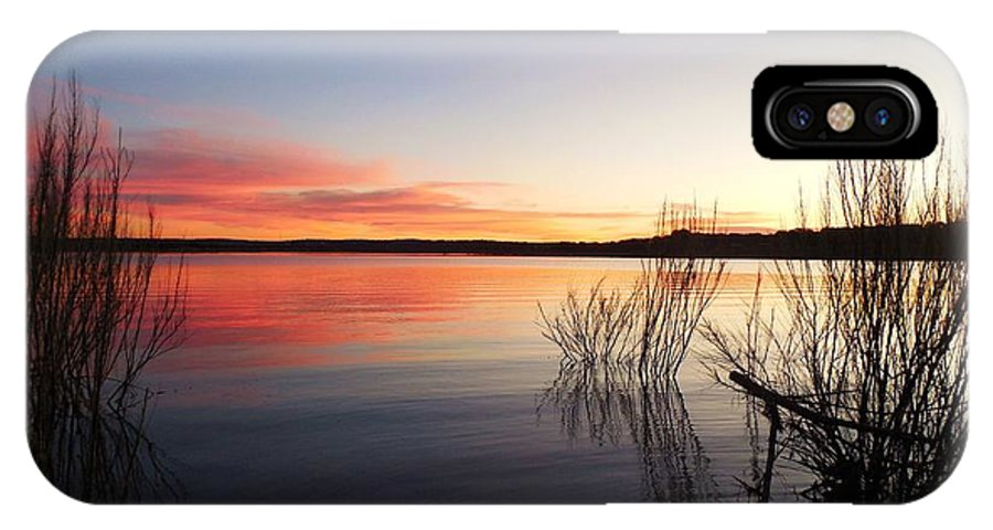 Texas IPhone X / XS Case featuring the photograph Beautiful Sunset On A Crisp, Cool Evening by Stephanie Long
