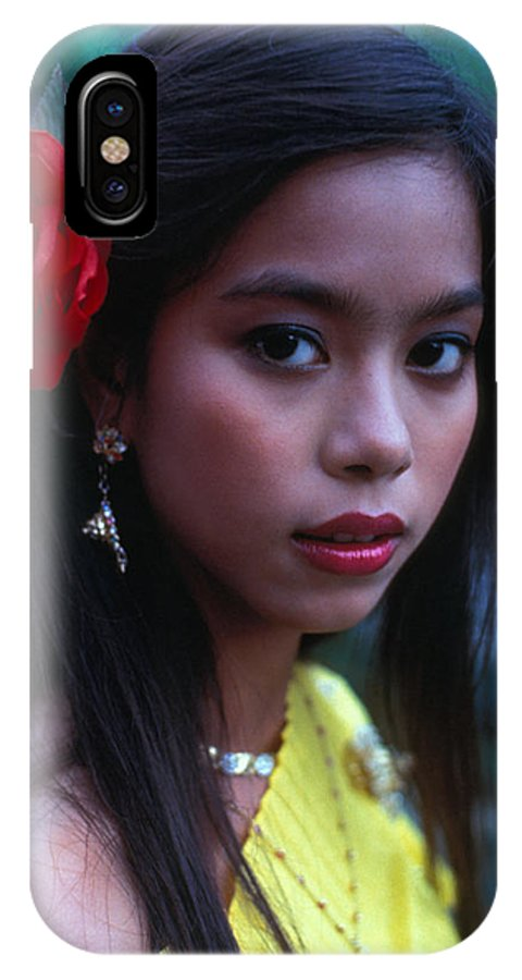 Girl IPhone X Case featuring the photograph Beautiful Thai Girl by Carl Purcell