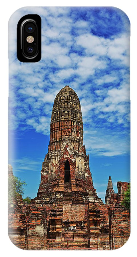 Thailand IPhone X / XS Case featuring the photograph Beautiful Wat Phra Ram Temple In Ayutthaya, Thailand by Sam Antonio Photography