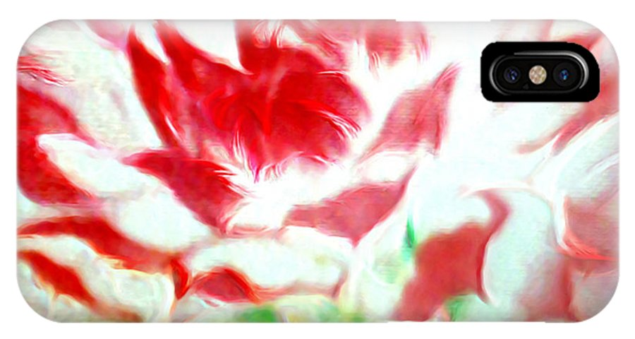 Florals IPhone X Case featuring the painting Beauty And The Flaming Tongue by Brenda L Spencer