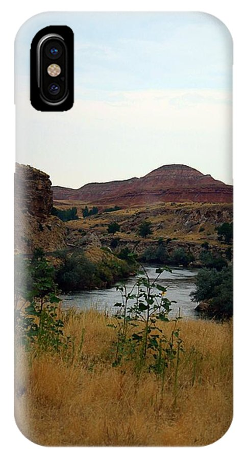 Wyoming IPhone X Case featuring the photograph Beauty At The Big Horn River by Darla Wells