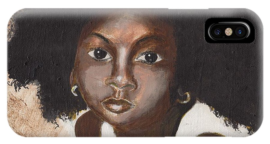 Children IPhone X Case featuring the painting Beauty by David Jackson