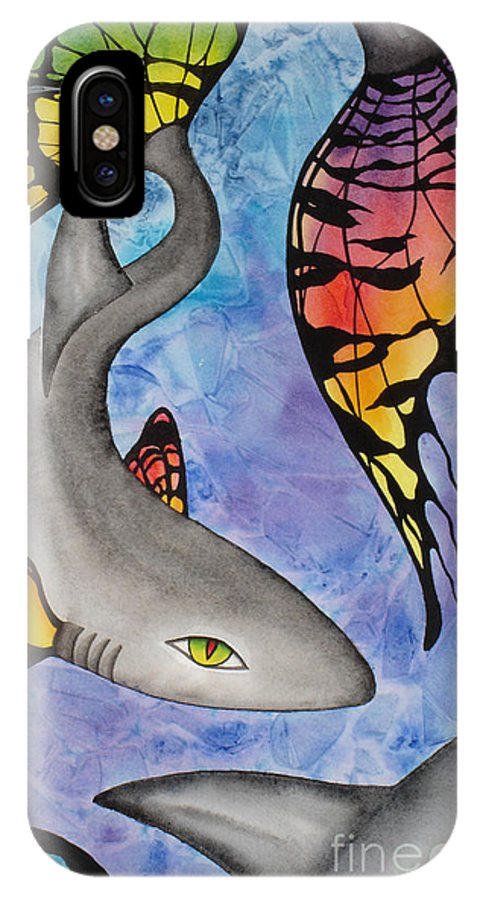 Surreal IPhone X Case featuring the painting Beauty In The Beasts by Lucy Arnold