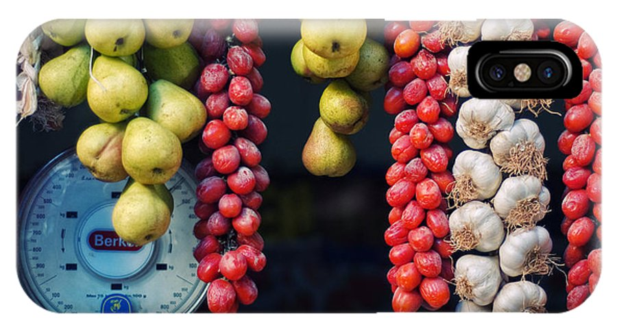 Still Life IPhone X Case featuring the photograph Beauty In Tomatoes Garlic And Pears by Silvia Ganora