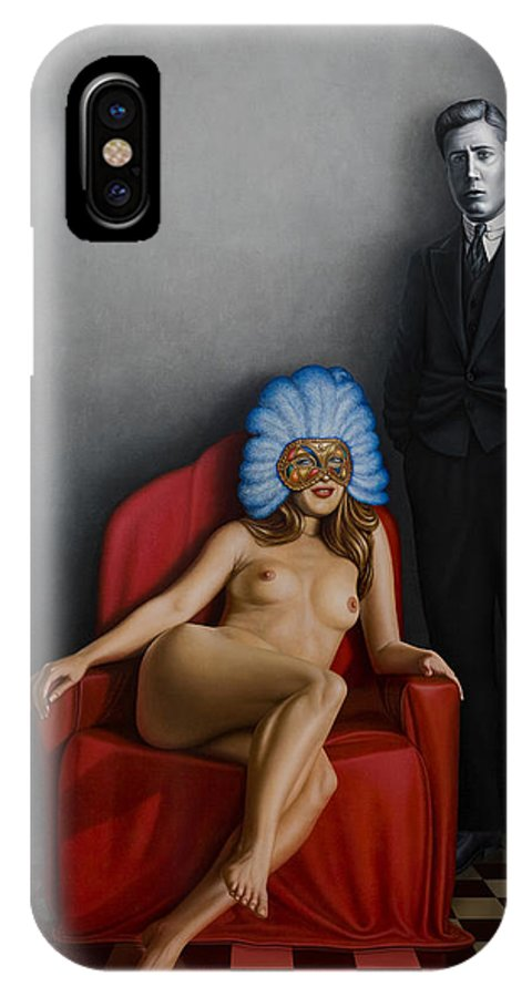 Nude IPhone X Case featuring the painting Beauty Of The Carnival by Horacio Cardozo