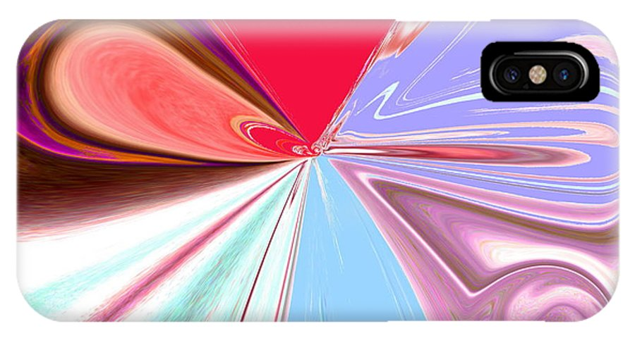 Beauty IPhone X Case featuring the painting Beauty Shock, Wings Of Imagination by Abstract Angel Artist Stephen K