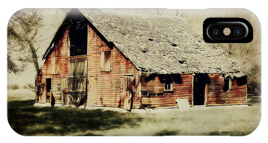 Barn IPhone X Case featuring the digital art Beckys Barn 1 by Julie Hamilton