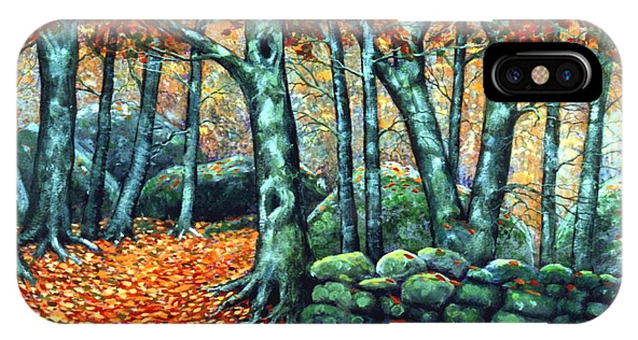 Landscape IPhone X Case featuring the painting Beech Woods by Frank Wilson