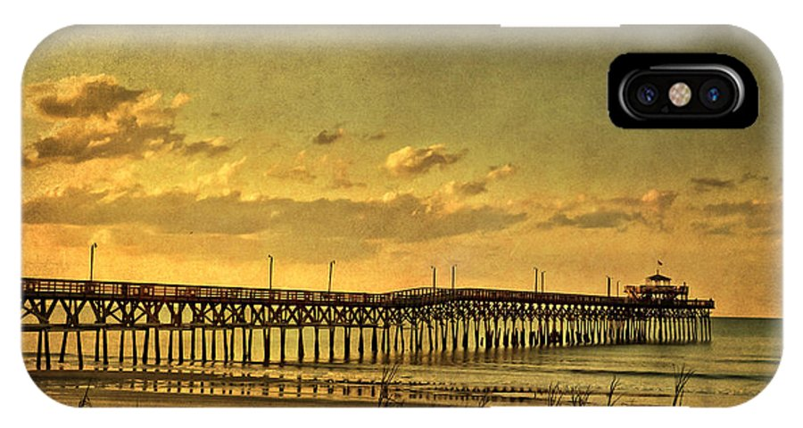 Cherry Grove IPhone X Case featuring the photograph Behind Cherry Grove Pier by Trish Tritz