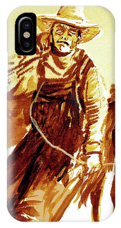Tobacco IPhone Case featuring the painting Behind The Plow by Seth Weaver