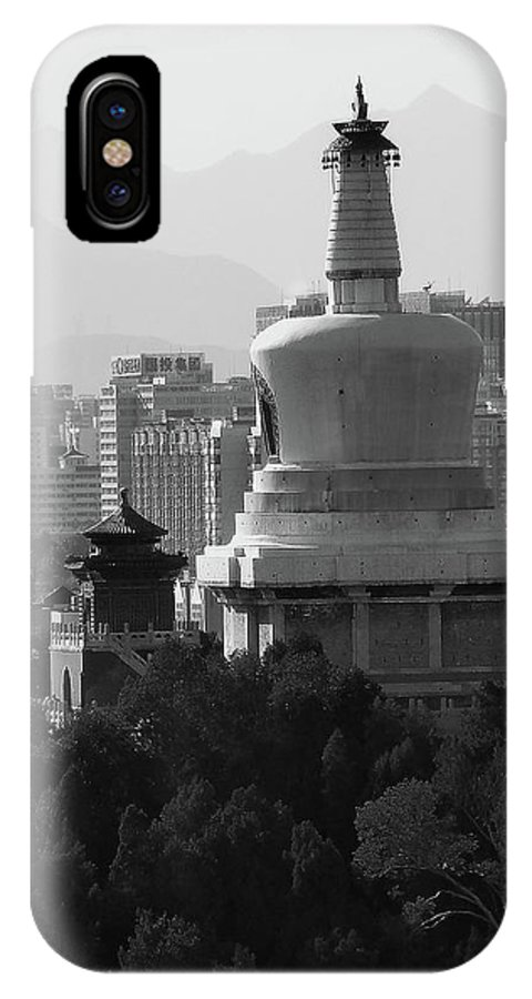 Beijing IPhone X Case featuring the photograph Beijing City 3 by Xueling Zou