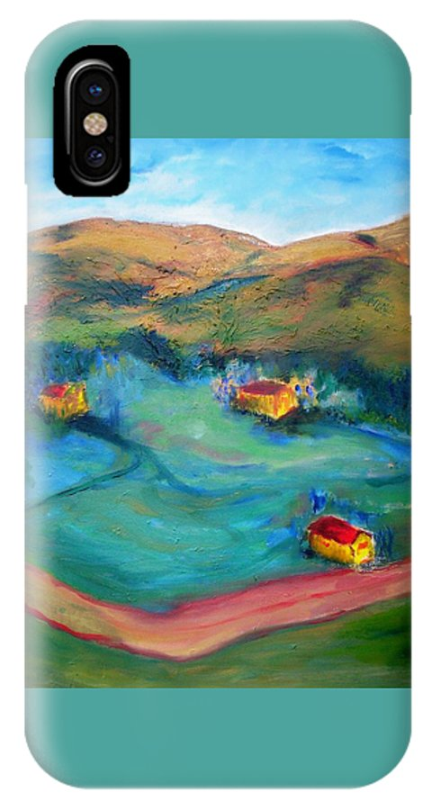 Landscape IPhone X Case featuring the painting Beit Shemesh by Suzanne Udell Levinger