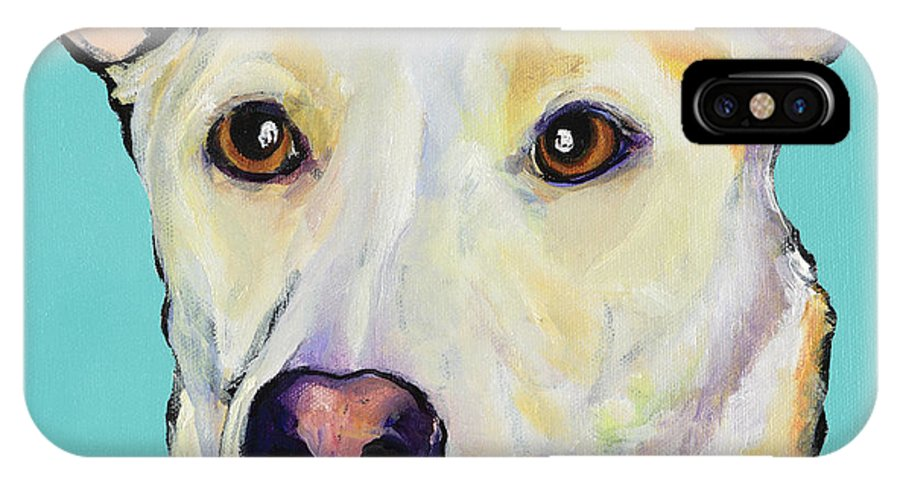 Dog Paintings IPhone X Case featuring the painting Bella by Pat Saunders-White