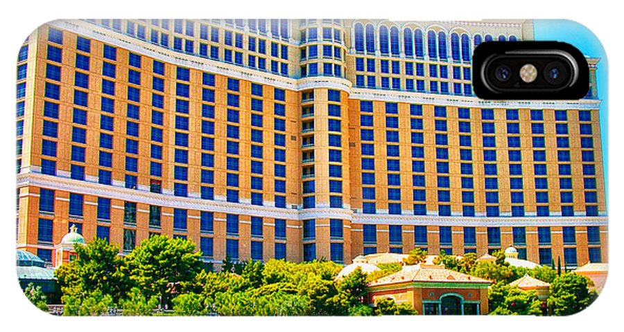Bellagio IPhone X Case featuring the photograph Bellagio Hotel And Casino by Mariola Bitner