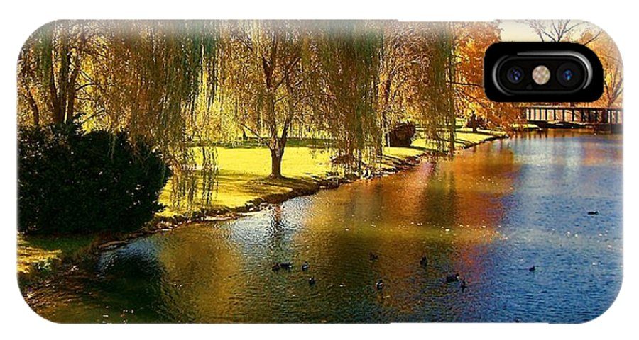 Pond IPhone X Case featuring the photograph Bellefonte by Debbie Summers
