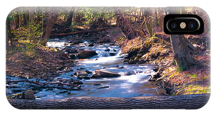 Stream IPhone X / XS Case featuring the photograph Bell's Gap Run by Mike Poorman