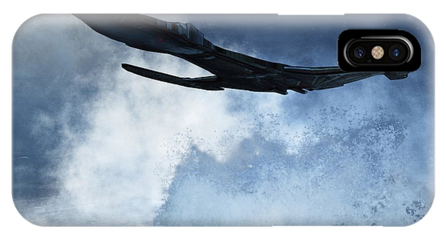 Flight IPhone X Case featuring the digital art Below Radar by Richard Rizzo