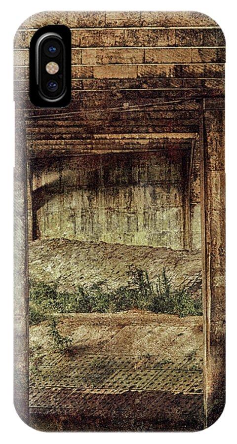 Bridge IPhone X Case featuring the photograph Below The Bridge by Wim Lanclus