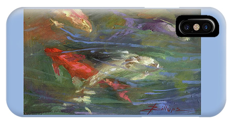 Plein Air IPhone X Case featuring the painting Below The Surface by Betty Jean Billups