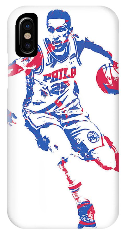 8275b1c7569 Ben Simmons Philadelphia 76ers Pixel Art 20 IPhone X Case for Sale by Joe  Hamilton