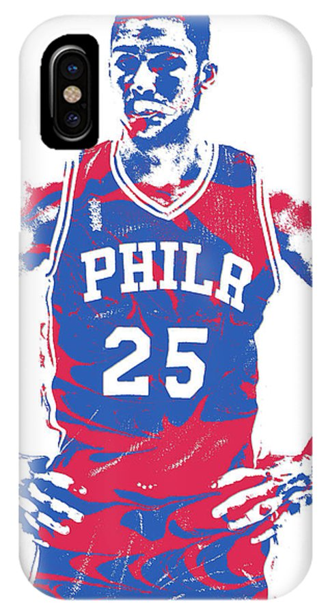 ebea26f3dc0 Ben Simmons IPhone X Case featuring the mixed media Ben Simmons  Philadelphia Sixers Pixel Art 2